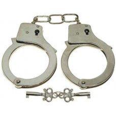 Наручники хромированные с 2 ключами MFH 29303