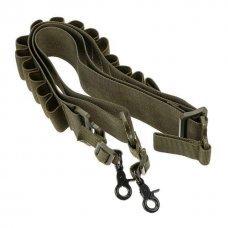 Ремень для дробовика с патронташем (бандольера) олива