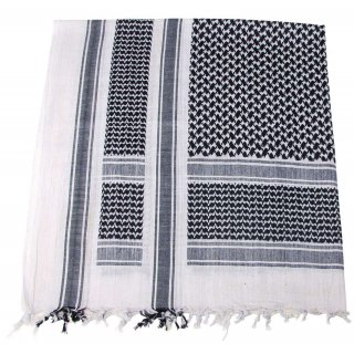 Шемаг black-white, fringed 16503A