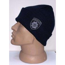 Шапка полиции шеврон темно-синия