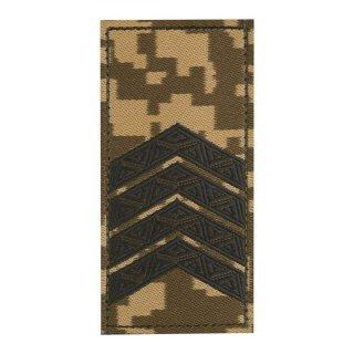 Погон ЗСУ на липучке Старший сержант (жаккард) MM14