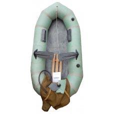 """Надувная резиновая лодка Лисичанка """"Стриж"""" с уключинами"""