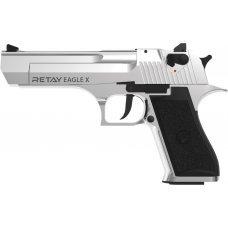 Пистолет стартовый Retay Eagle X кал. 9 мм. Цвет - chrome.