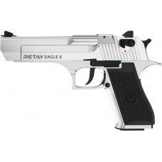 Пистолет стартовый Retay Eagle X кал. 9 мм. Цвет - nickel
