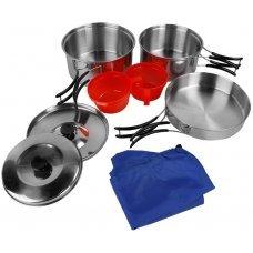 Набор туристической посуды для кемпинга на 2 персоны МИЛ ТЕК Германия