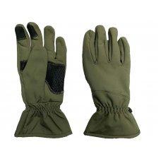 Перчатки Soft Shell сенсорные зимние Pancer олива