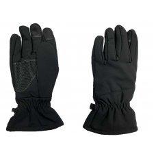 Перчатки Soft Shell сенсорные зимние Pancer черные