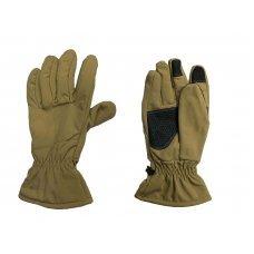 Перчатки Soft Shell сенсорные зимние Pancer койот