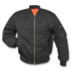 Куртка летная MA1 TEESAR Mil-Tec черная Германия