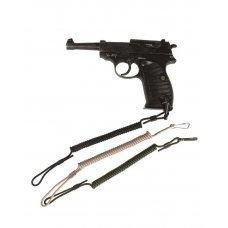 Шнур для пистолета страховочный спираль МИЛ ТЕК олива Германия