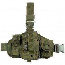 Набедренная кобура для пистолета с подсумками олива