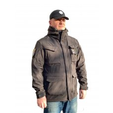 Куртка милитари м65 черная под пистолет с Velcro Soft Shell