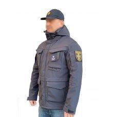Куртка милитари м65 темно-синяя под пистолет с Velcro Soft Shell