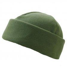Зимняя шапка олива двойной флис