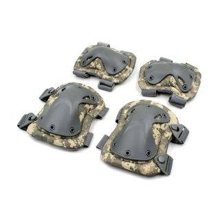 Защита тактическая наколенники, налокотники (ABS, полиэстер 600D, мультикам)
