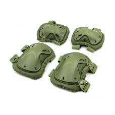 Защита тактическая наколенники, налокотники (ABS, полиэстер 600D, оливковый)