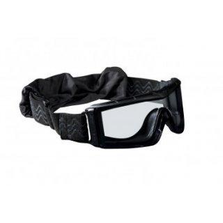 Очки тактические Bolle X810 черные с прозрачными линзами