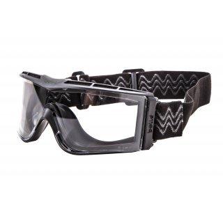 Очки тактические Bolle X1000 черные с прозрачными линзами