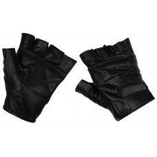 Перчатки кожаные беспалые черные MFH