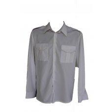 Форменная белая рубашка с длинным рукавом Pancer