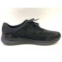 Кросівки літні Панцир чорні сітка