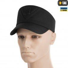 M-Tac кепка-мазепинка с гербом рип-стоп 100% Х/Б черная