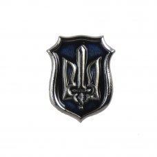 Значок ОУН синий/серебро