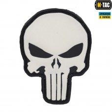 M-Tac нашивка Punisher ПВХ черно-белая