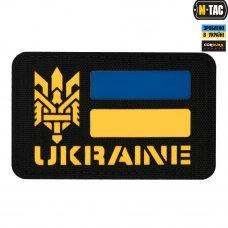 M-Tac нашивка Ukraine (с Тризубом) Laser Cut Black/Yellow/Blue
