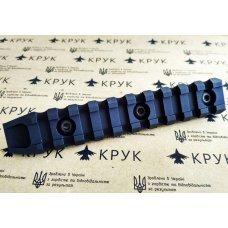 Крук рейка Пикатинни с креплением M-Lok черная (10 слотов, 1 скос)